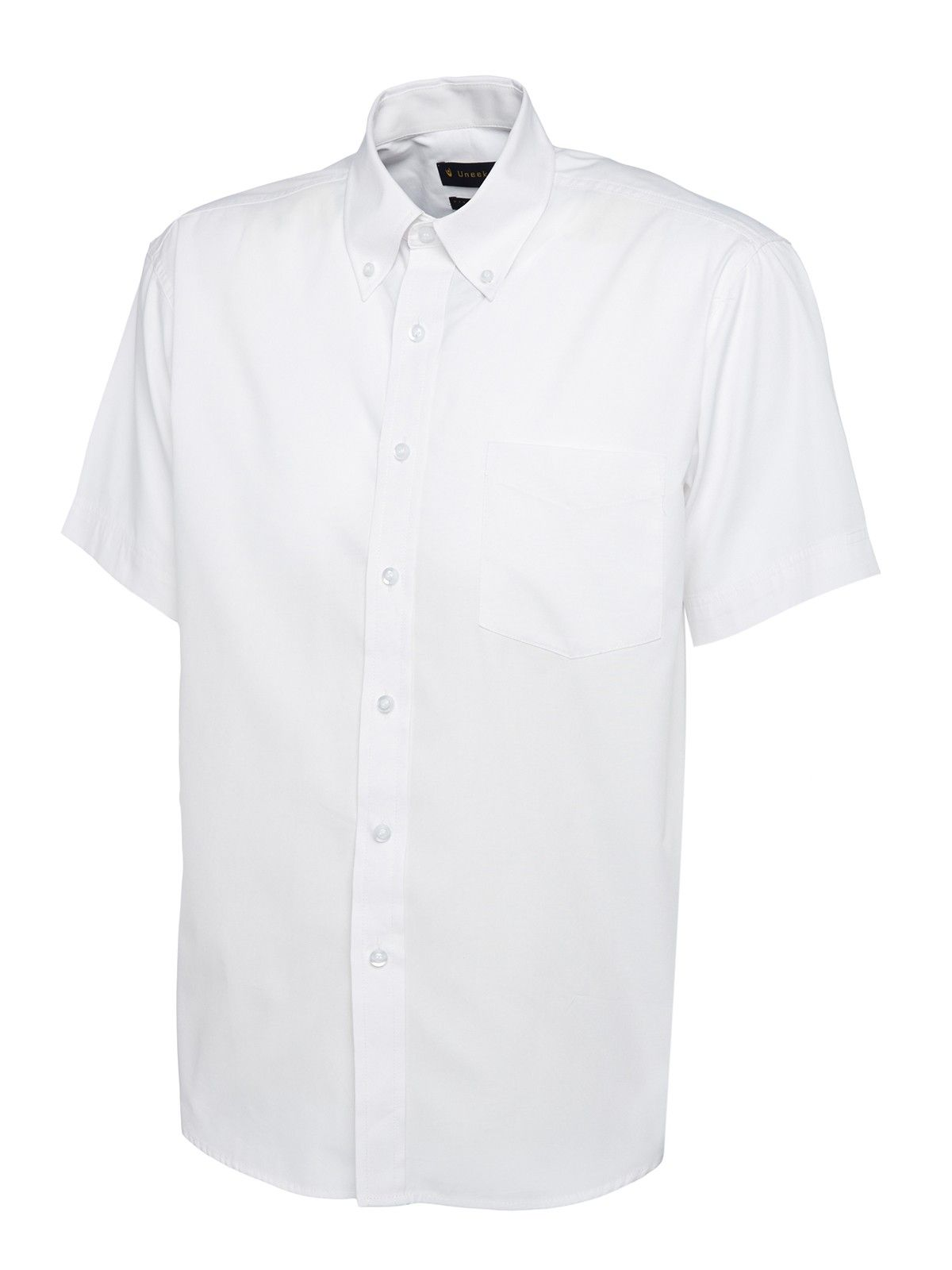 Embroidered mens oxford short sleeve shirt for Mens short sleeve oxford shirt