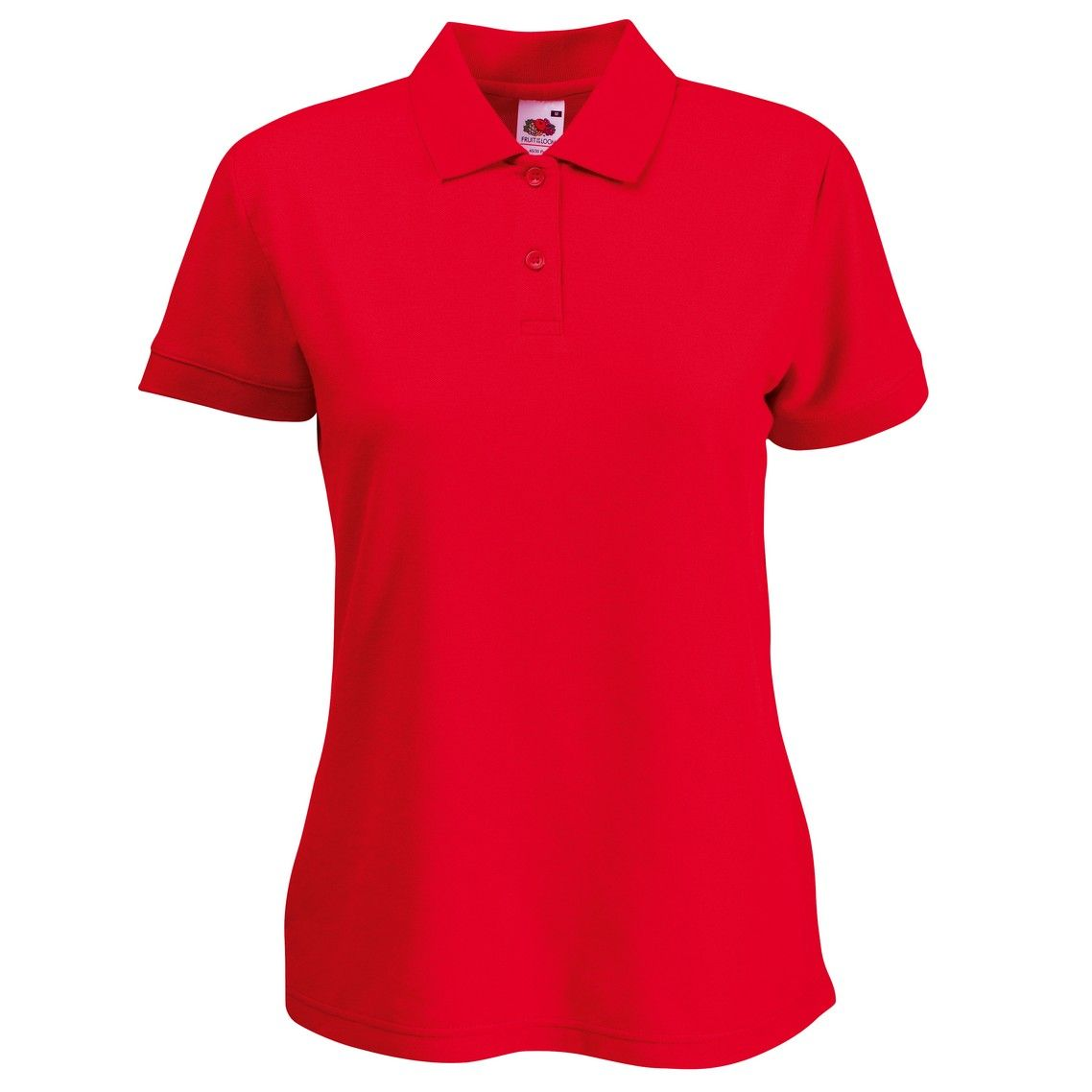 Ladies fit embroidered 65 35 polo shirt for Embroidered polo shirts online