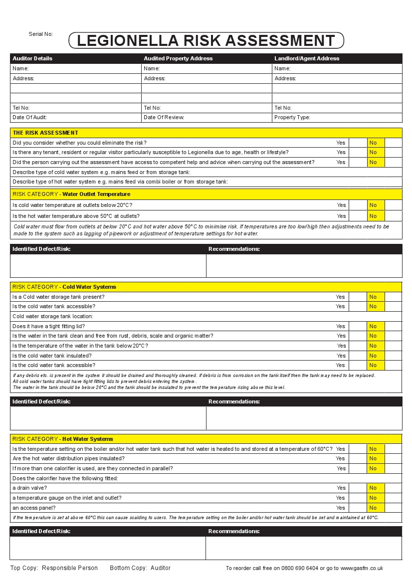 Legionella risk assessment pad pronofoot35fo Choice Image