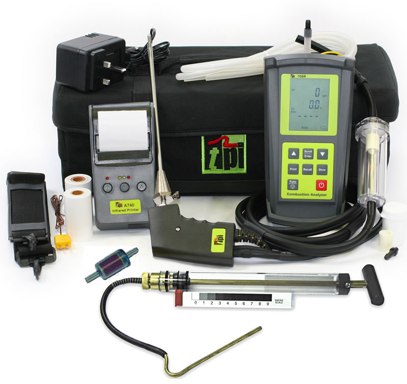 Tpi Test Instruments : Tpi r analyser oil kit with smoke pump filter and